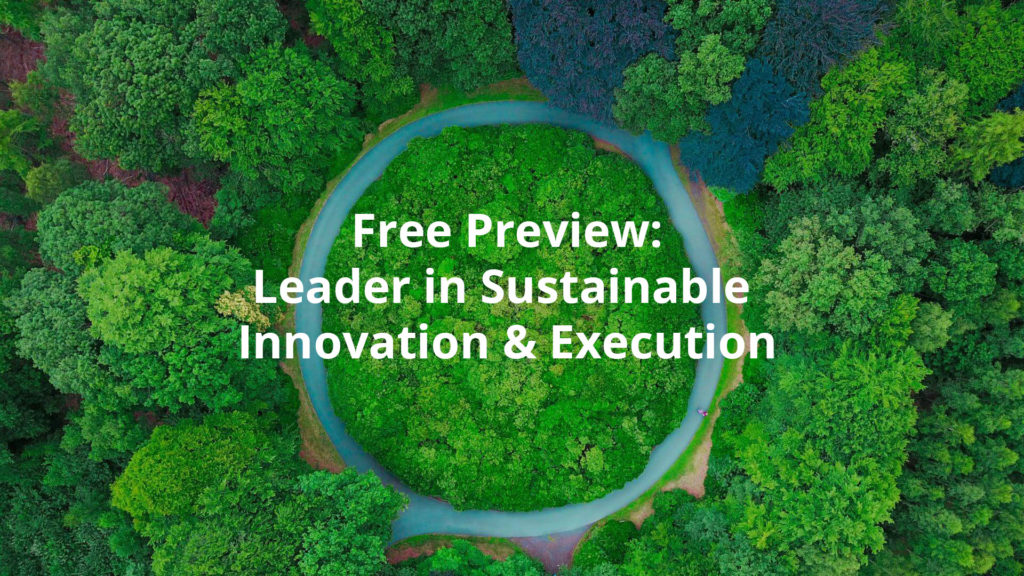 Free Preview: Sustainability course: Leader in sustainable innovation & execution